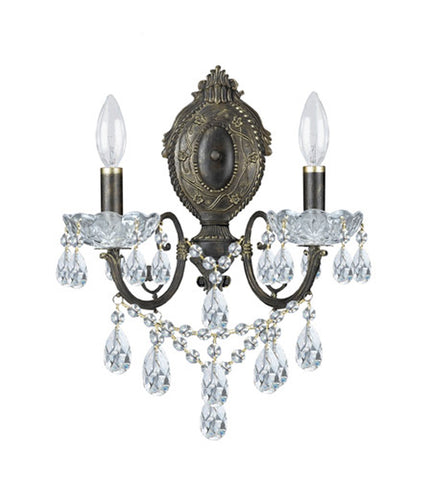 Crystorama Legacy 2 Light Wall Sconce