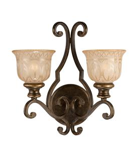 Crystorama Norwalk 2 Light Wall Sconce