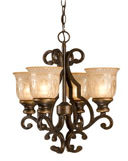 Crystorama Norwalk 4 Light Mini Chandelier
