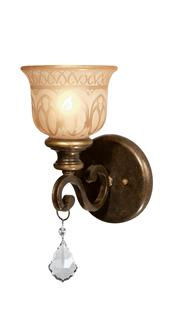 Crystorama Norwalk 1 Light Clear Crystal Bronze Sconce