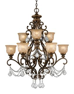 Crystorama Norwalk 9 Light Clear Italian Chandelier