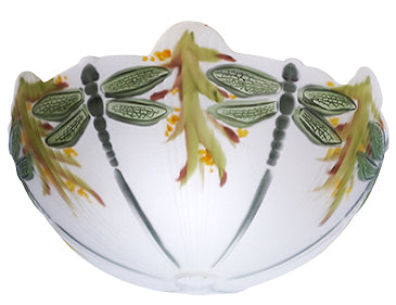 15 3/4 Inch Glass Dragonfly Light Shade