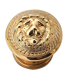 Solid Brass MGM Lion Head Door Knob Set
