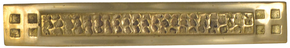5 Inch Overall (3 1/2 Inch c-c) Solid Brass Craftsman Hammered Drawer Pull