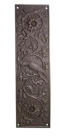 11 1/4 Inch Cockateel Bird and Flower Push Plate