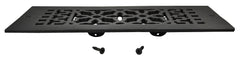 Black Iron Grille: 12 Inch x 4 Inch