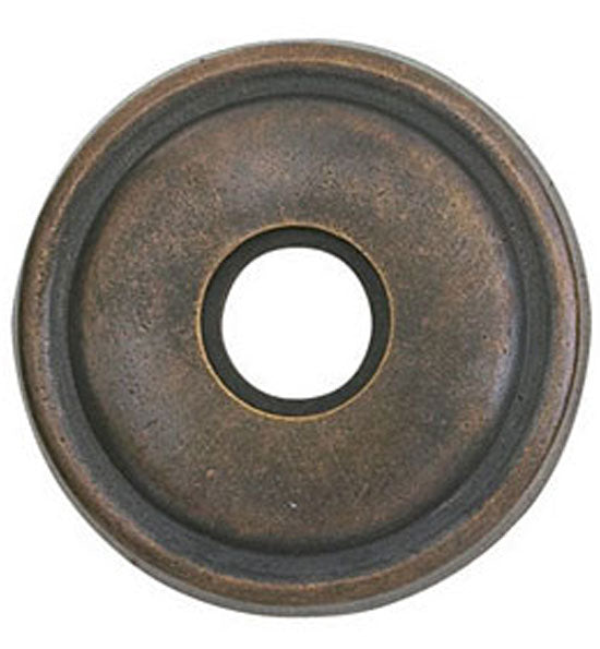 2 5/8 Inch Solid Brass Lost Wax Doorbell Button with Round Rosette