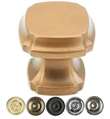 1 3/8 Inch Empire Square Knob