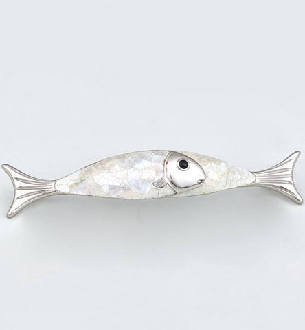 5 7/8 Inch (4 1/2 Inch c-c) Symphony Inlays Mother of Pearl Fish Pull