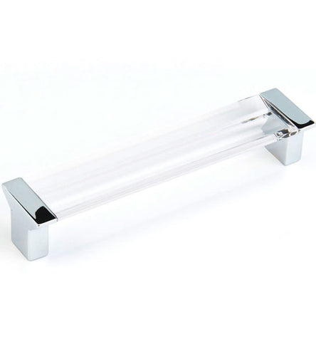 5 3/8 Inch (5 Inch c-c) Positano Clear Pull