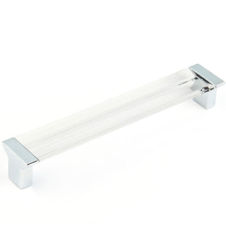 6 5/8 Inch (6 1/4 Inch c-c) Positano Clear Pull