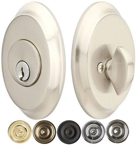 Saratoga Style Oval Deadbolt Several Finishes Available