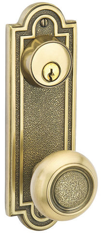 Solid Brass Belmont Single Keyed Style Entryway Set