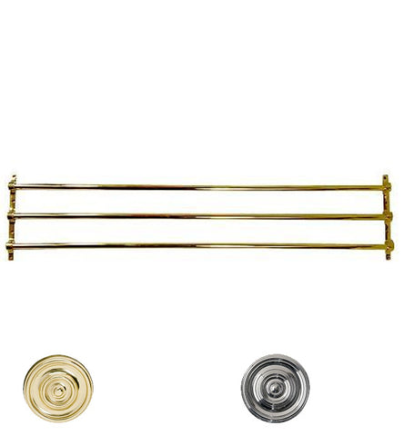 36 Inch Solid Brass Triple Push Bar - PUSH & PULL PLATES – Antique Hardware Supply