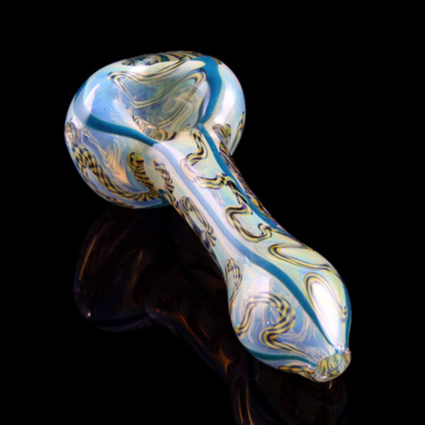 Inside-Out Latty and Cane Fumed Spoon Pipe - The Oven Company