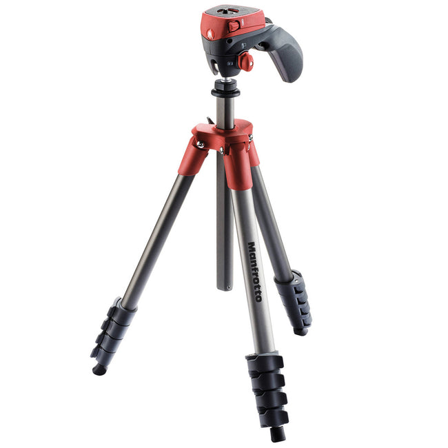 Tripié Manfrotto Compact Action Rojo (MKCOMPACTACN-RD)