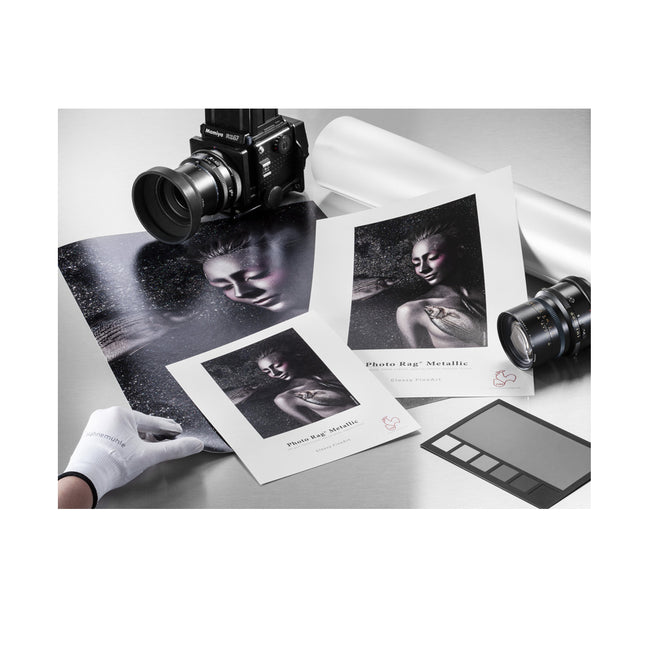 "Papel Hahnemühle Photo Rag® Metallic 340 gr de 44"", rollo de 12m (10643571)"