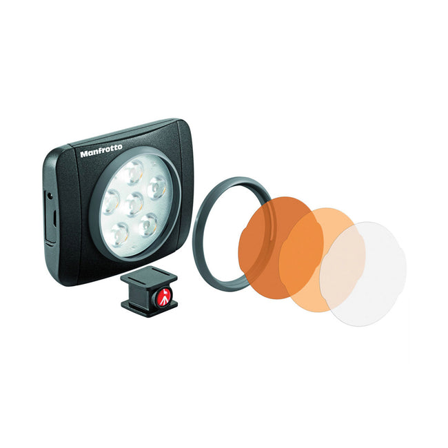 Lampara Led Manfrotto Serie Lumie de 6 Led's Negra (MLUMIEART-BK)