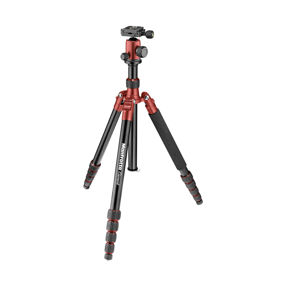 Tripie Manfrotto Traveller Element Chico Rojo Para 4kg (MKELES5RD-BH)