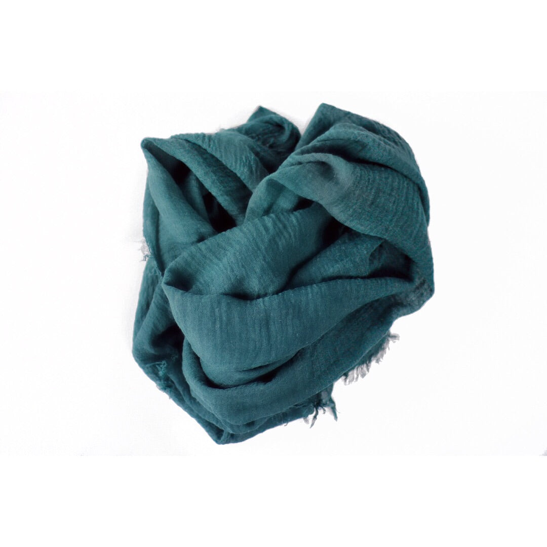 Waves of Teal Crinkle Hijab