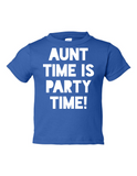 Aunt Time Is Party Time Funny Toddler Tee Royal 2T