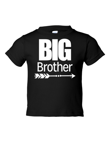 Big Brother Funny Toddler Tee Black 2T
