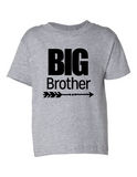 Big Brother Funny Toddler Tee Gray 2T