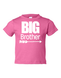 Big Brother Funny Toddler Tee Pink 2T