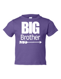 Big Brother Funny Toddler Tee Purple 2T