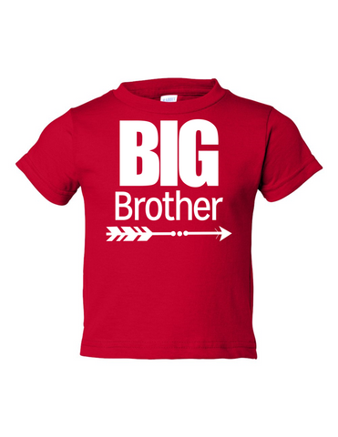 Big Brother Funny Toddler Tee Red 2T
