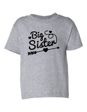 Big Sister Funny Toddler Tee Gray 2T