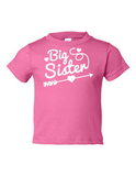 Big Sister Funny Toddler Tee Pink 2T