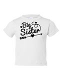 Big Sister Funny Toddler Tee White 2T