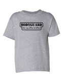 Bodyguard For Little Brother Funny Toddler Tee Gray 2T
