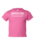 Bodyguard For Little Brother Funny Toddler Tee Pink 2T
