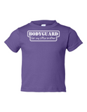 Bodyguard For Little Brother Funny Toddler Tee Purple 2T
