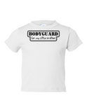 Bodyguard For Little Brother Funny Toddler Tee White 2T
