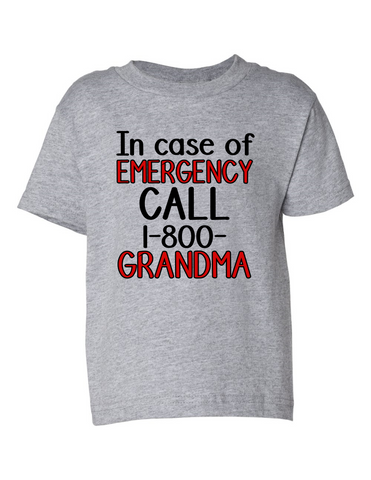 Call 1 800 Grandma Funny Toddler Tee