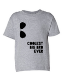 Coolest Big Bro Ever Funny Toddler Tee Gray 2T