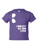 Coolest Big Bro Ever Funny Toddler Tee Purple 2T