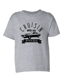 crusin with my grandpa funny toddler tee