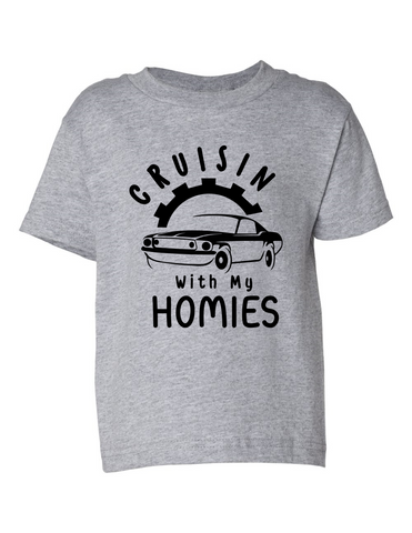 crusin with my homies funny toddler tee