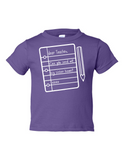 Dear Teacher Send My Sister Home Funny Toddler Tee Purple 2T