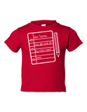 Dear Teacher Send My Sister Home Funny Toddler Tee Red 2T