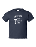 Grandma Needs A Drink Of Wine Funny Toddler Tee Navy 2T