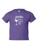 Grandma Needs A Drink Of Wine Funny Toddler Tee Purple 2T