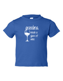 Grandma Needs A Drink Of Wine Funny Toddler Tee Royal 2T