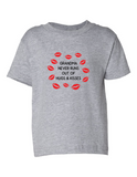 Grandma Never Runs Out Of Kisses Funny Toddler Tee Gray 2T