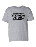 Greatest Stepmom In The Galaxy Funny Toddler Tee Gray 2T