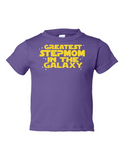 Greatest Stepmom In The Galaxy Funny Toddler Tee Purple 2T